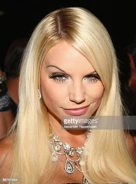 Gina Lisa Lohfink attends the Movie Meets Media party at discoteque P1 on June 29, 2009 in Munich, Germany.