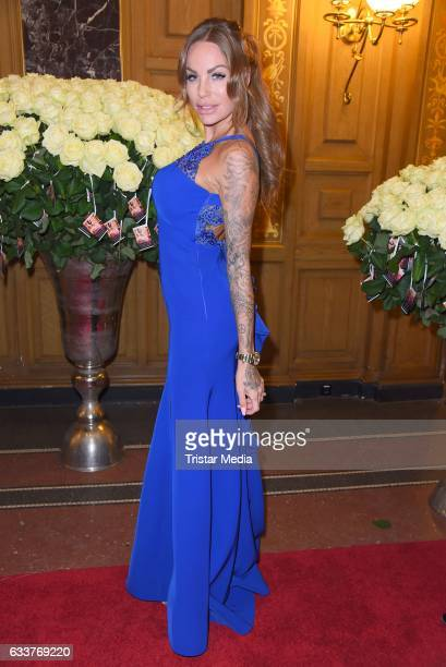 Gina Lisa Lohfink during the Semper Opera Ball 2017 at Semperoper on February 3 2017 in Dresden Germany