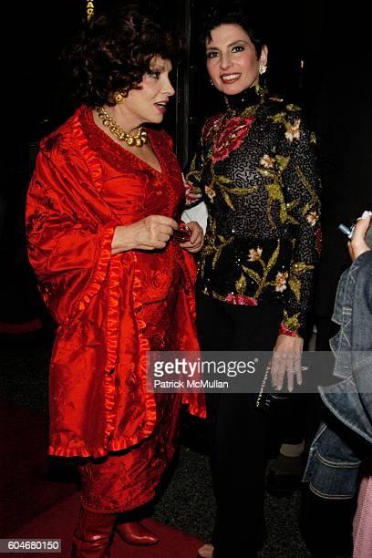 Gina Lollobrigida and Arlene Lazare attend Ferro's Restaurant Opening at Ferro's Restaurant on September 13, 2006 in New York City.