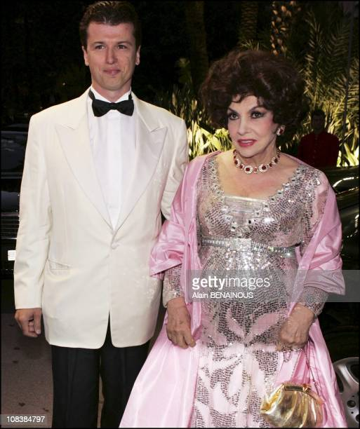 Gina Lollobrigida and Javier Rigau in Monaco on August 05 2005