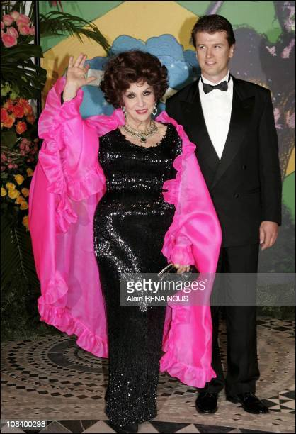 Gina Lollobrigida and Javier Rigau in Monaco on March 19 2005
