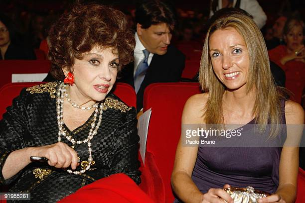 Gina Lollobrigida and Valentina Vezzali attend the FAO World Food Day Event during Day 2 of the 4th International Rome Film Festival held at the...