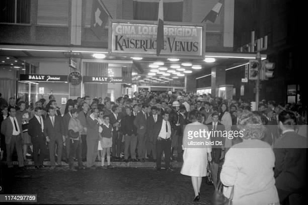 Ankunft zur Filmpremière in Zürich 1963