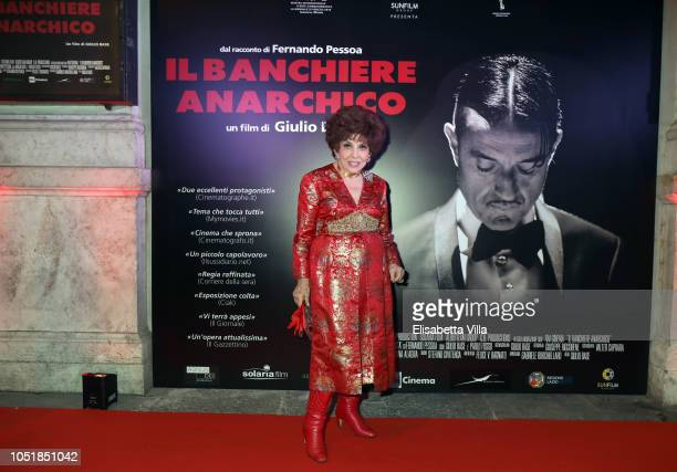 Gina Lollobrigida attends Premiere Il Banchiere Anarchico by Giulio Base at Cinema Quirinetta on October 10 2018 in Rome Italy