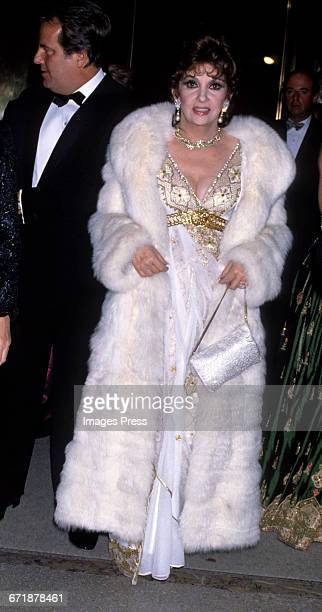 Gina Lollobrigida attends the Annual Costume Institute Exhibition Gala From Queen to Empress Victorian Dress 18371888 at the Metropolitan Museum of...