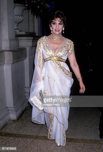 Gina Lollobrigida attends the Annual Costume Institute Exhibition Gala 'From Queen to Empress Victorian Dress 18371888' at the Metropolitan Museum of...