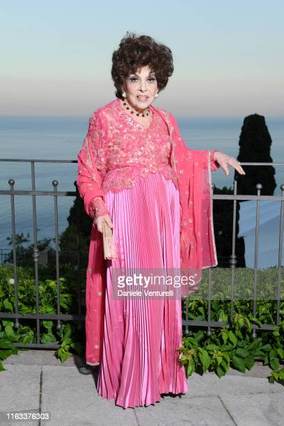 Gina Lollobrigida attends the Nations Award 2019 cocktail at Hotel San Pietro on July 21, 2019 in Taormina, Italy.