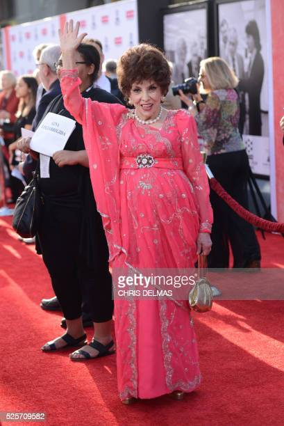 """Gina Lollobrigida attends the Opening Night Gala of the 2016 TCM Classic Film Festival celebrating The 40th Anniversary Screening of """"All the..."""