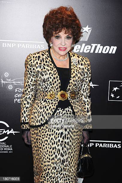 Gina Lollobrigida attends the Telethon Gala during the 6th International Rome Film Festival at the Casina Valadier on October 28, 2011 in Rome, Italy.