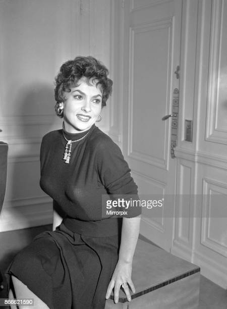 Gina Lollobrigida, Italian actress in London to attend the Royal Film Performance of To Catch a Thief, on behalf of The Cinema and Television...