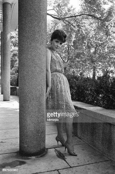 Gina Lollobrigida italian actress poses for pictures on London Embankment 31st July 1963