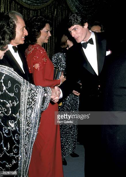 Gina Lollobrigida Lynn Marshall Von Furstenberg and Christopher Reeve