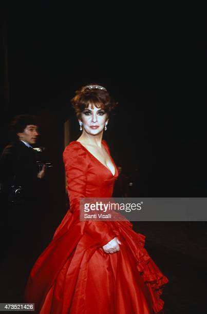 Gina Lollobrigida posing for a photo on March 15 1985 in New York New York