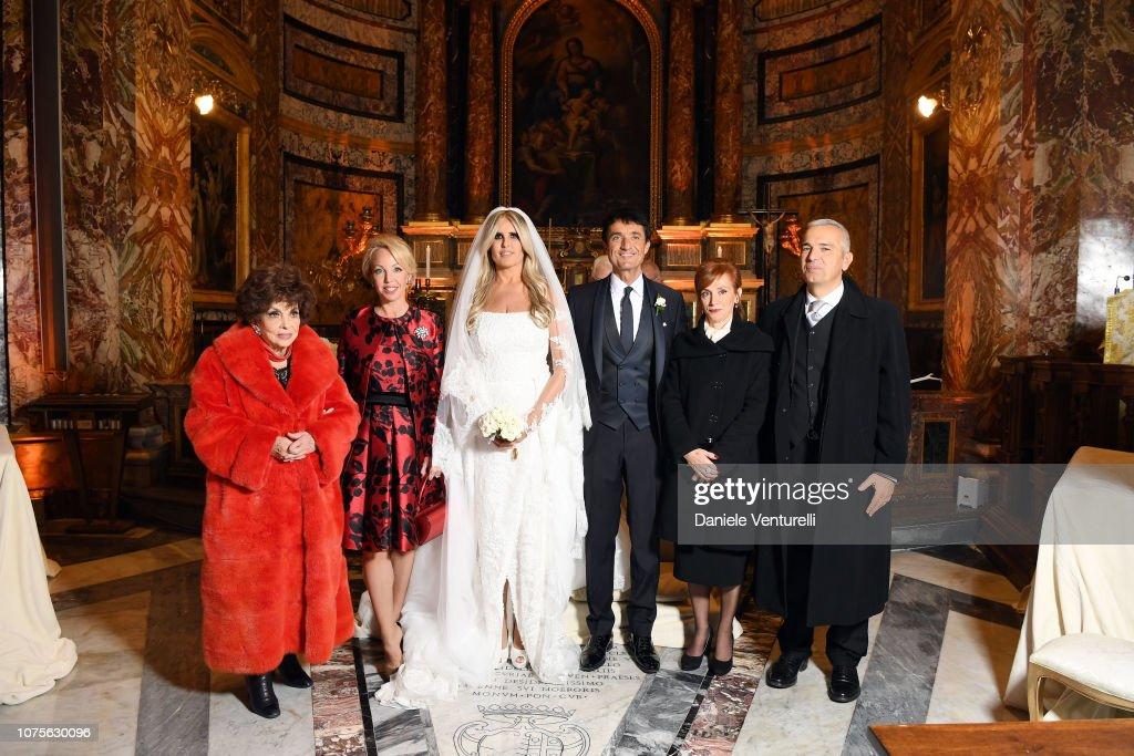 Tiziana Rocca And Giulio Base Wedding In Rome : Nachrichtenfoto