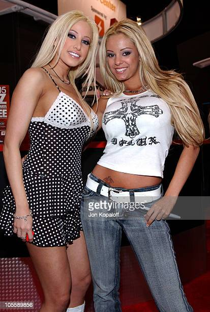 Gina Lynn and Carmen Luvana Adult Film Stars during Internext Las Vegas 2005 at Mandalay Bay Hotel Convention Center in Las Vegas Nevada United States