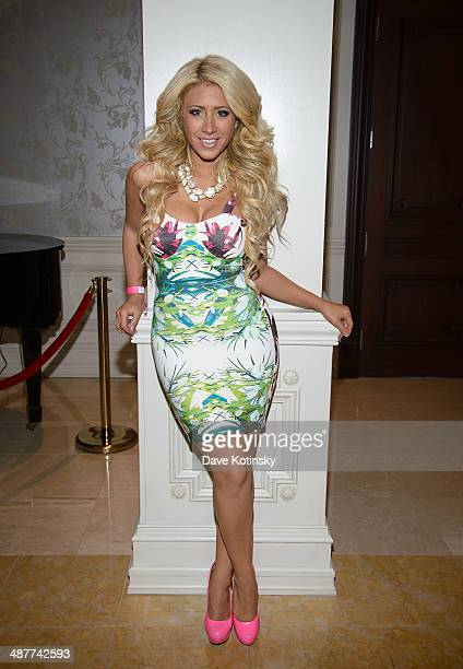 Gina Marie Zimmerman attends the Posh Boutique fashion show at The Terrace on May 1 2014 in Paramus New Jersey