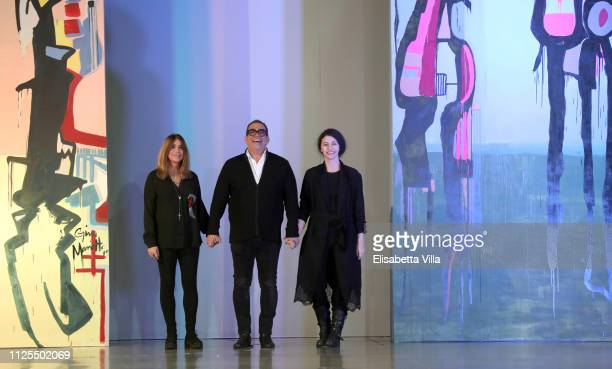 Gina Mariotto, Guillermo Mariotto and Valentina Ilardi walk the runway at the Gattinoni show during Altaroma at MACRO Via NIzza on January 27, 2019...