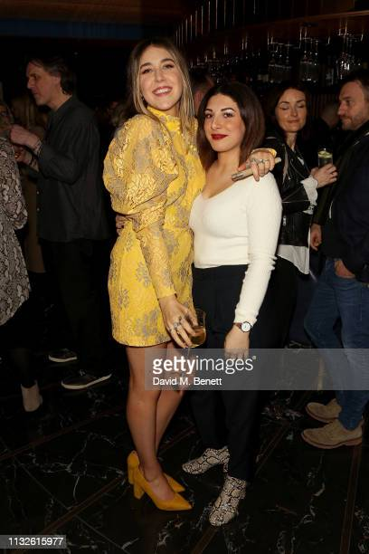 Gina Martin and Pam Giuliana attend a party hosted by Gina Martin and Ryan Whelan to celebrate the Royal ascent into law of the Voyeurism Bill making...