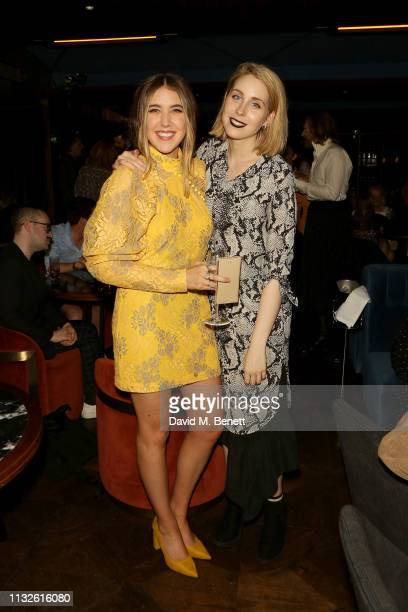 Gina Martin and Stevie Martin attend a party hosted by Gina Martin and Ryan Whelan to celebrate the Royal ascent into law of the Voyeurism Bill...