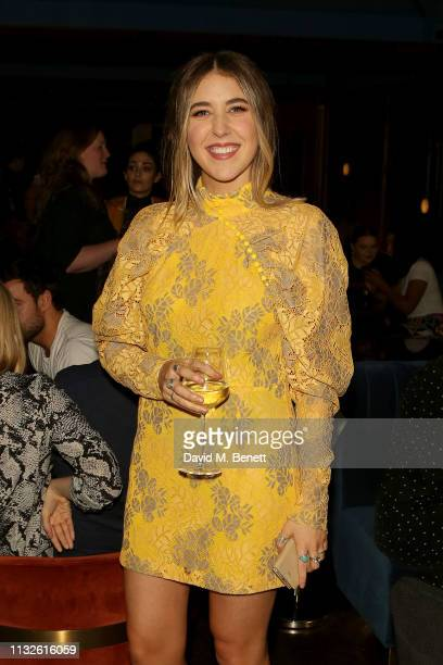 Gina Martin attends a party hosted by Gina Martin and Ryan Whelan to celebrate the Royal ascent into law of the Voyeurism Bill making upskirting...