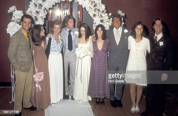 Gina Martin Jeanne Martin Actors Dean Paul Martin and Olivia Hussey Deana Martin Actor/Singer Dean Martin and Ricci Martin attend the Wedding of Dean...