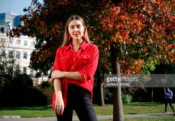 Gina Martin poses for a portrait in London on October 10 2018 When a man took a picture under her skirt with impunity it was the final straw for Gina...