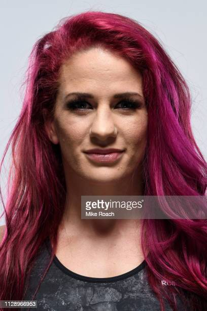 Gina Mazany poses for a portrait during a UFC photo session on February 26 2019 in Las Vegas Nevada
