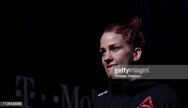 Gina Mazany walks to the octagon in her women's bantamweight bout during the UFC 235 event at TMobile Arena on March 2 2019 in Las Vegas Nevada