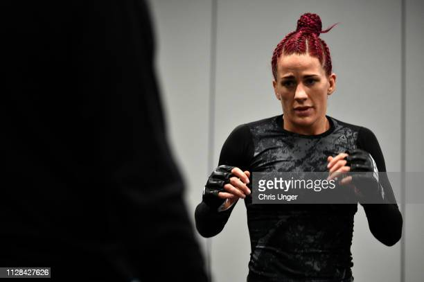 Gina Mazany warms up backstage during the UFC 235 event at TMobile Arena on March 2 2019 in Las Vegas Nevada