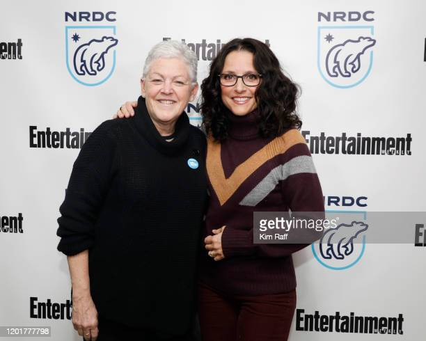 Gina McCarthy, NRDC President and Chief Executive Officer, and Julia Louis-Dreyfus attend the EW x NRDC Sundance Film Festival Panel Series: Julia...