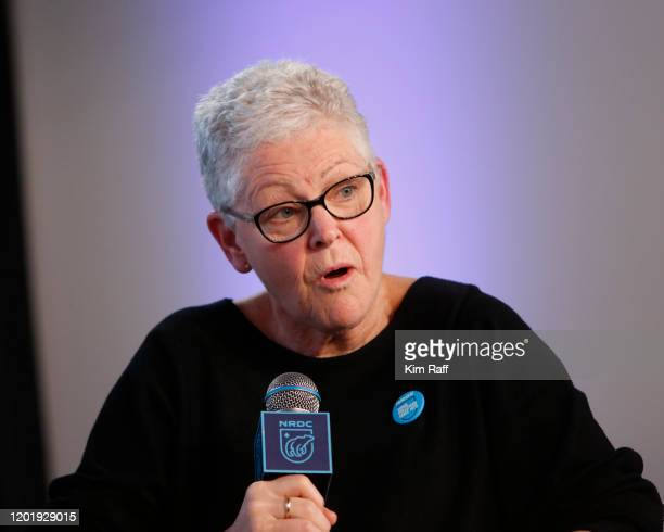 Gina McCarthy, NRDC President and Chief Executive Officer, speaks at the EW x NRDC Sundance Film Festival Panel Series: Rebuilding Paradise Panel and...