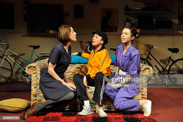 Gina McKee as Viv Tamzin Outhwaite as Di and Anna Maxwell Martin as Rosein Amelia Bullmore's Di and Viv and Rose directed by Anna Mackmin at the...