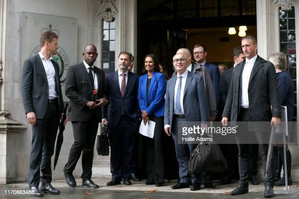 Gina Miller a businesswoman who brought the legal challenge over the suspension of parliament emerges from the Supreme Court building after a ruling...