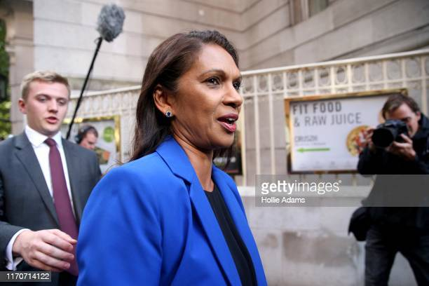 Gina Miller a businesswoman who brought the legal challenge over the suspension of parliament is seen in Westminster after a ruling that the...