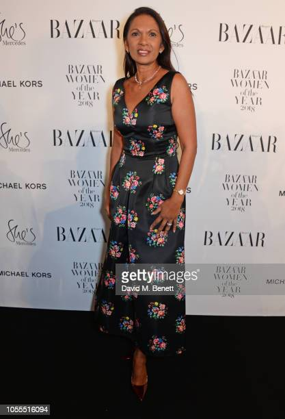 Gina Miller attends the Harper's Bazaar Women Of The Year Awards 2018 in partnership with Michael Kors and MercedesBenz at Claridge's Hotel on...