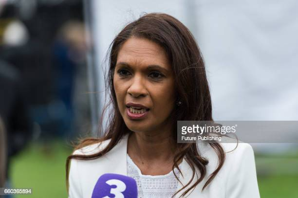 KINGDOM MARCH 29 Gina Miller gives an interview outside Houses of Parliament on the day of triggering Article 50 of the Lisbon Treaty and formal...
