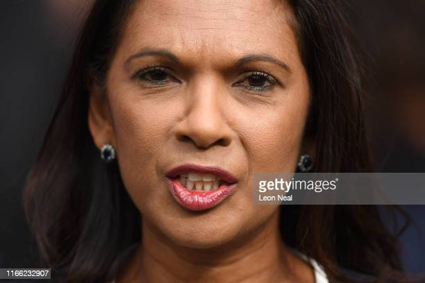 Gina Miller speaks outside the Royal Courts of Justice after judges at the High Court rejected her legal challenge, but gave her permission to appeal...