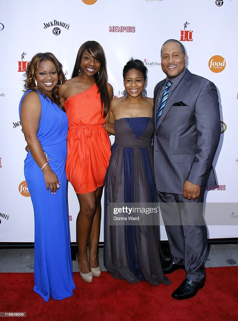 Gina Neely, Spenser Neely, Shelbi Neely and Pat Neely attend the grand opening of Nelly's Barbecue Parlor on July 12, 2011 in New York City.