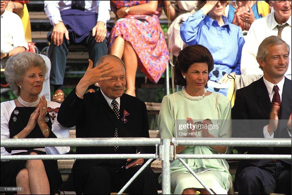 Franz Joseph's Lic celebrates 80 years in Liechtenstein on August 14, 1986. : News Photo