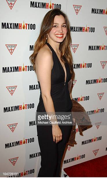 Gina Philips during Maxim Hot 100 Party Arrivals at Yamashiro in Hollywood California United States