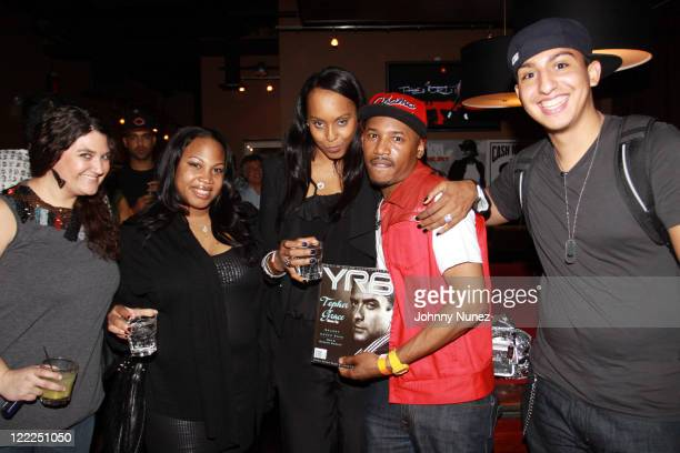 Gina Ponce Janet 'Jnay' SewellUlepic Angela Hunte Lindell Palmer and Brian Lora attend Kevin Rudolf's 'To The Sky' album release party at Lucky...