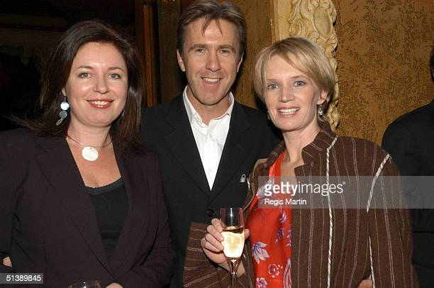 Gina Riley Glenn Robin and Jane Turner at the opening of the musical 'We Will Rock You' at the Regent theatre in Melbourne Victoria Australia