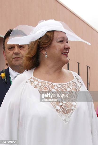 Gina Rinehart at the Furphy Marquee on Melbourne Cup Day at Flemington Racecourse on November 6 2018 in Melbourne Australia