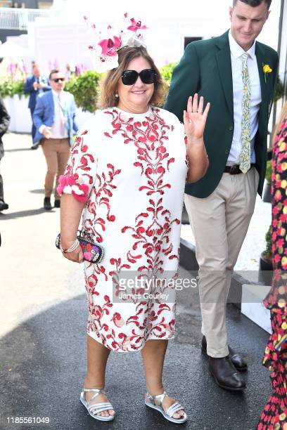 Gina Rinehart attends Melbourne Cup Day at Flemington Racecourse on November 05 2019 in Melbourne Australia