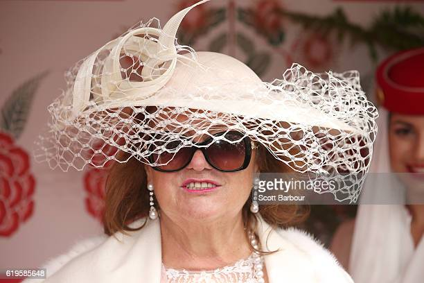 Gina Rinehart attends the Emirates Marquee on Melbourne Cup Day at Flemington Racecourse on November 1 2016 in Melbourne Australia