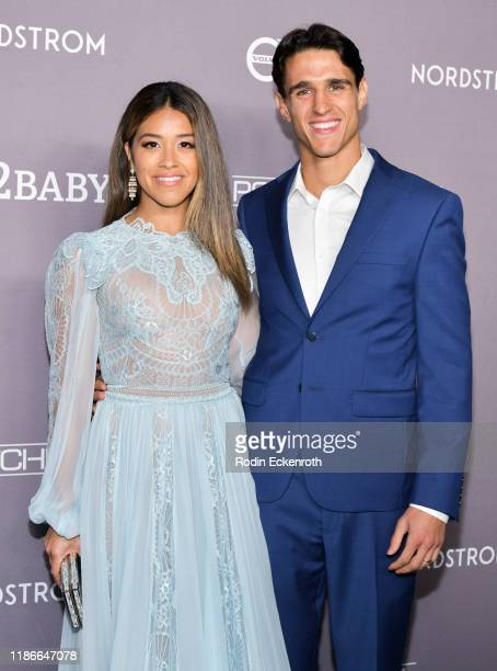 Gina Rodriguez and Joe Locicero attend the 2019 Baby2Baby Gala Presented by Paul Mitchell at 3LABS on November 09, 2019 in Culver City, California.