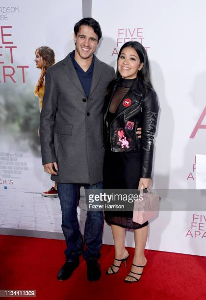 Gina Rodriguez and Joe Locicero attend the Premiere Of Lionsgate's Five Feet Apart at Fox Bruin Theatre on March 07 2019 in Los Angeles California