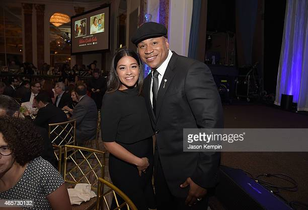 Gina Rodriguez and LL Cool J attend Venice Family Clinic's 33rd Annual Silver Circle Gala at the Beverly Wilshire Four Seasons Hotel on March 9 2015...