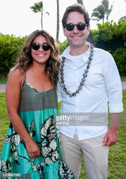 Gina Rodriguez and Paul Rudd attend the 2019 Maui Film Festival's Taste of Summer on June 12 2019 in Wailea Hawaii