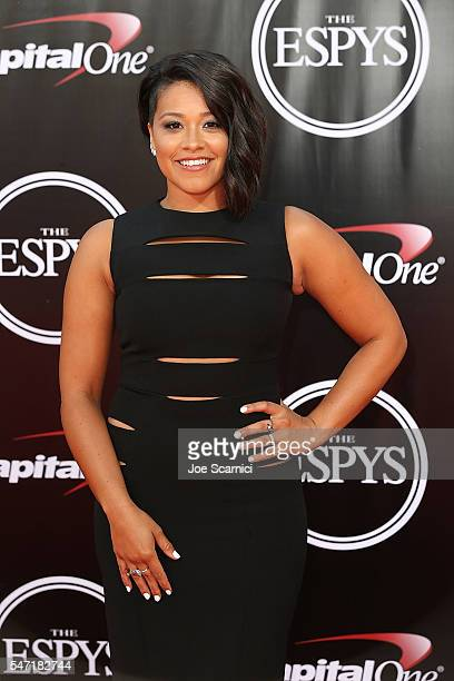Gina Rodriguez arrives at The 2016 ESPYS at Microsoft Theater on July 13 2016 in Los Angeles California